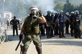 Αυθαίρετη αστυνομική βία για την υπεράσπιση της ΕΛΛΗΝΙΚΟΣ ΧΡΥΣΟΣ A.E. στιςΣκουριές.