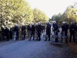 Ερώτηση βουλευτών του ΣΥΡΙΖΑ-ΕΚΜ για την αστυνομική βία στις Σκουριές την21.10.2012