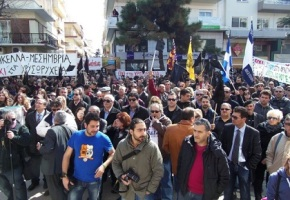 Protestors against gold mining in Greece demand alternatives toausterity