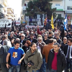 Protestors against gold mining in Greece demand alternatives to austerity