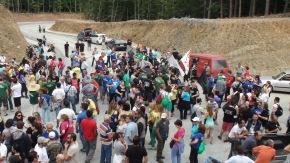 Πορεία διαμαρτυρίας στις Σκουριές- Τεράστια η καταστροφή του βουνού (Φωτογραφίες καιβίντεο)