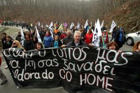 Protest in Skouries, Halkidiki, Greece: A just struggle will not be stifled by riot policechemicals