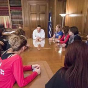 Στο Μέγαρο Μαξίμου οι γυναίκες του SOSΧαλκιδική