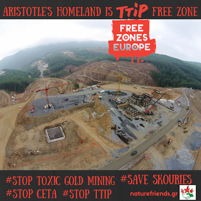 Aristotle's homeland is TTIP Free